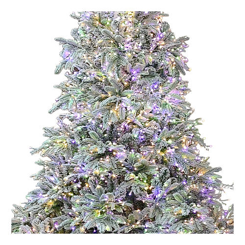 Sapin de Noël 195 cm 2000 LED 3 couleurs Poly Andorra Frosted 2
