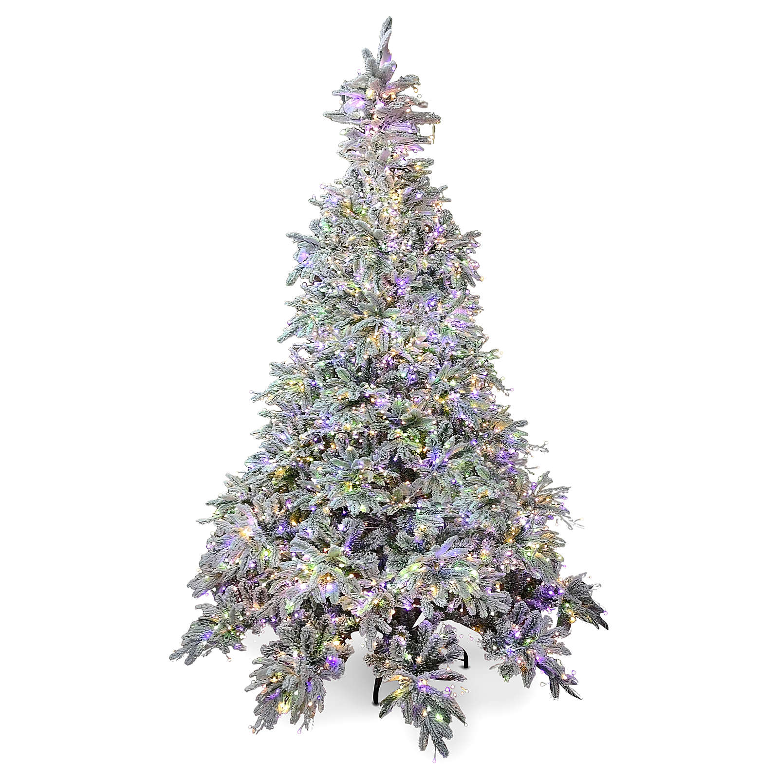Árbol de Navidad 210 cm Poly 2400 LED 3 colores Andorra Frosted 3