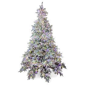 Albero di Natale 210 cm Poly 2400 LED 3 colori Andorra Frosted s1