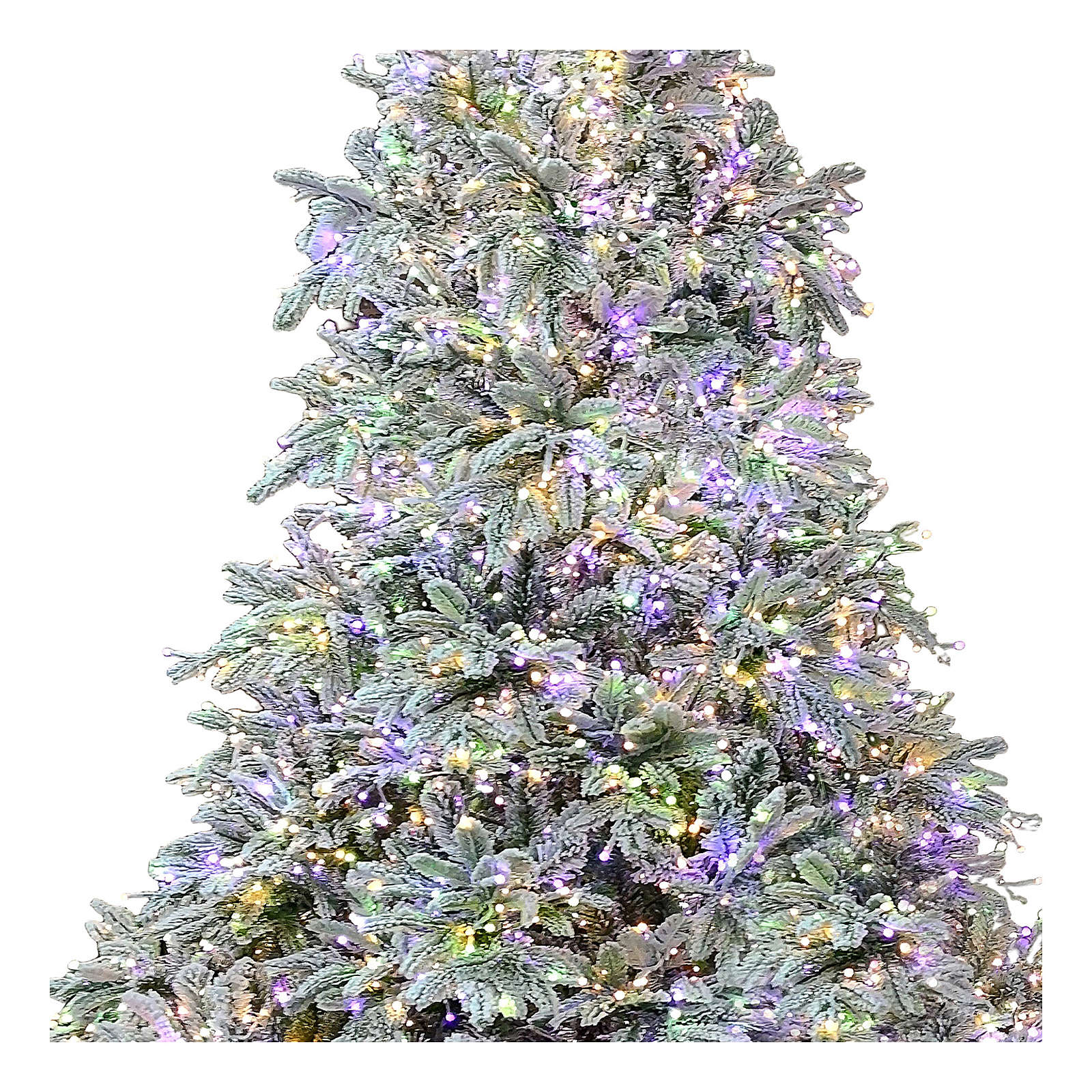 Artificial Christmas tree 210 cm Poly 2400 3 colored LEDs Andorra Frosted 3
