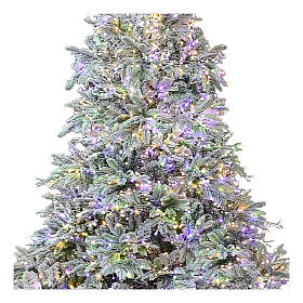 Sapin de Noël 225 cm 2900 LED 3 couleurs Poly Andorra Frosted s2