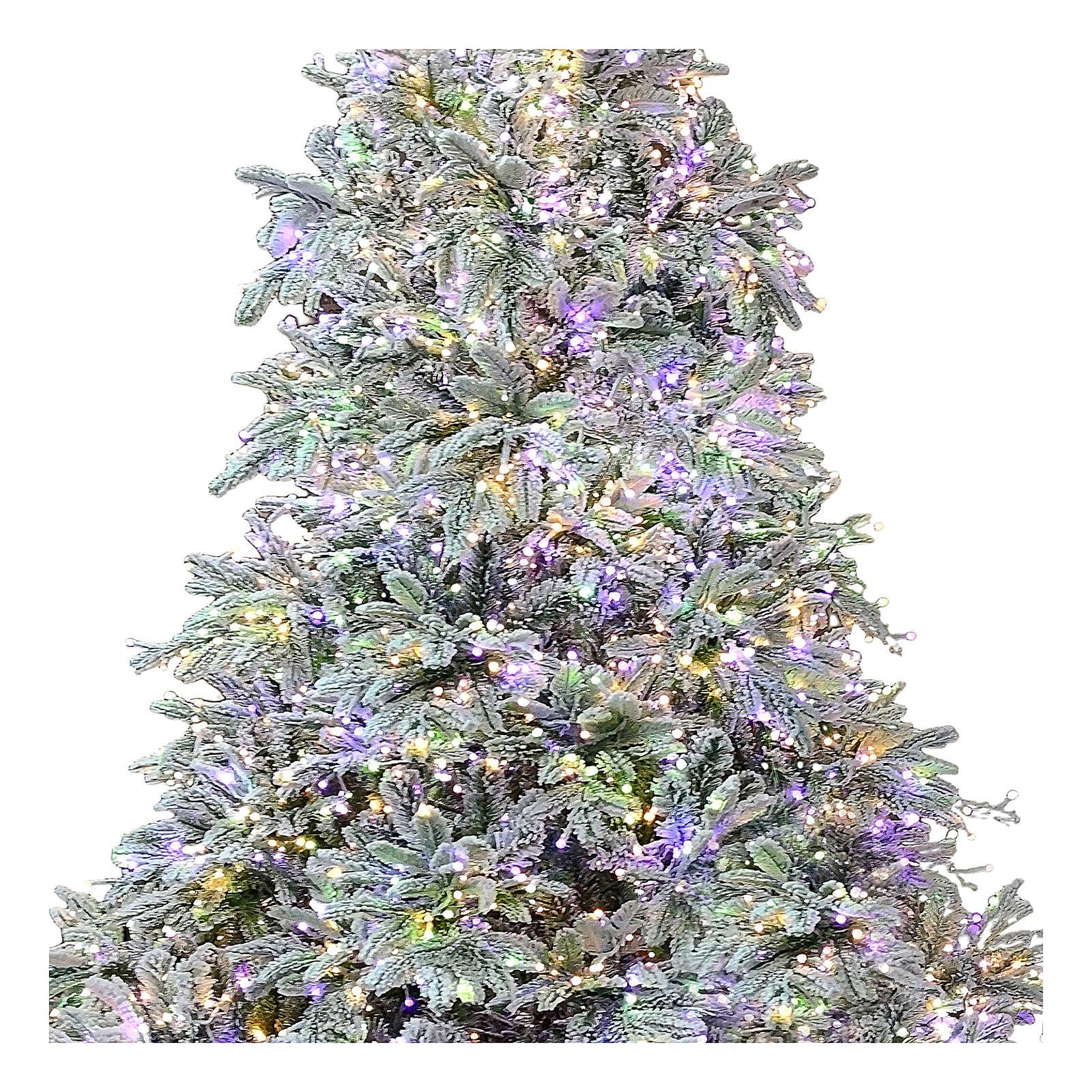 Albero di Natale 225 cm 2900 LED 3 colori Andorra Frosted Poly 3