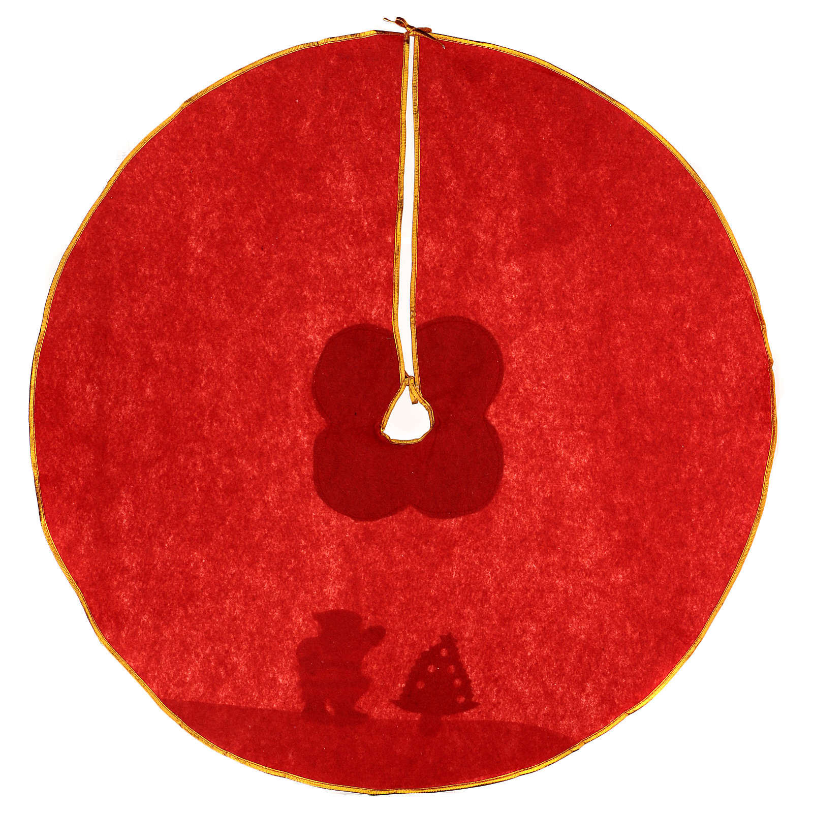 Christmas Tree base cover, red with image of Santa Claus 100 cm 3