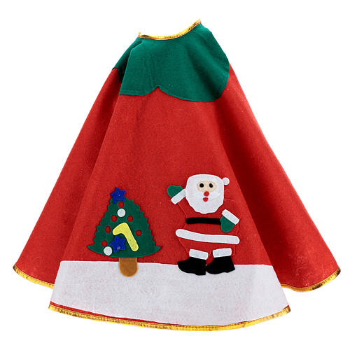 Falda cubre base Árbol de Navidad rojo paño 100 cm Papá Noel 3