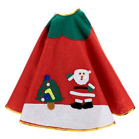 Copribase albero di Natale rosso panno 100 cm Babbo Natale s3