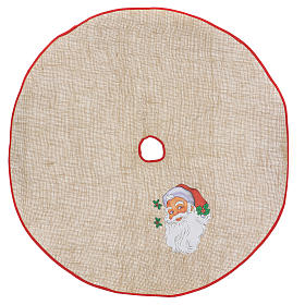 Christmas Tree base cover in jute with Santa Claus 100 cm s1