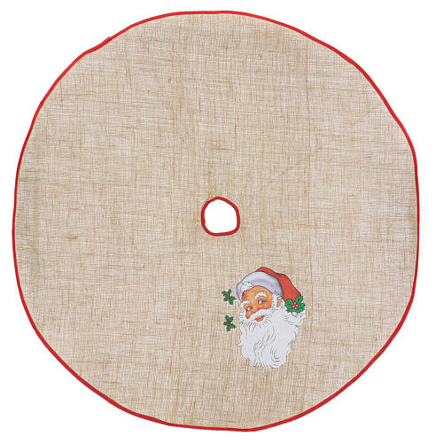 Christmas Tree base cover in jute with Santa Claus 100 cm 1