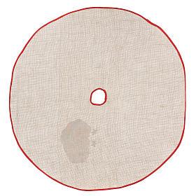 Accesorio para cubrir la base yute para Árbol estampa Papá Noel 100 cm s4