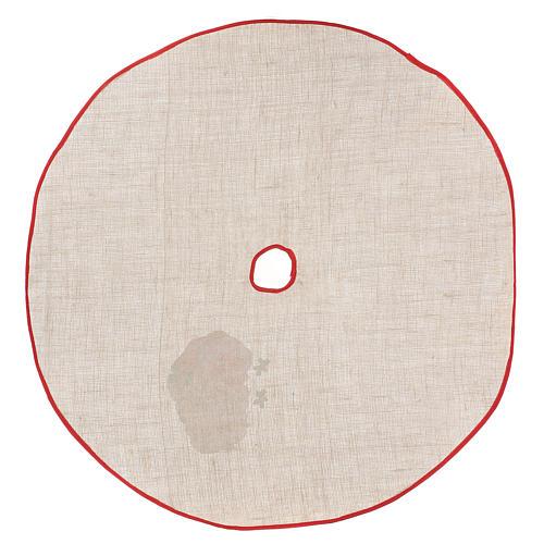 Falda cubre base yute para Árbol estampa Papá Noel 100 cm 4
