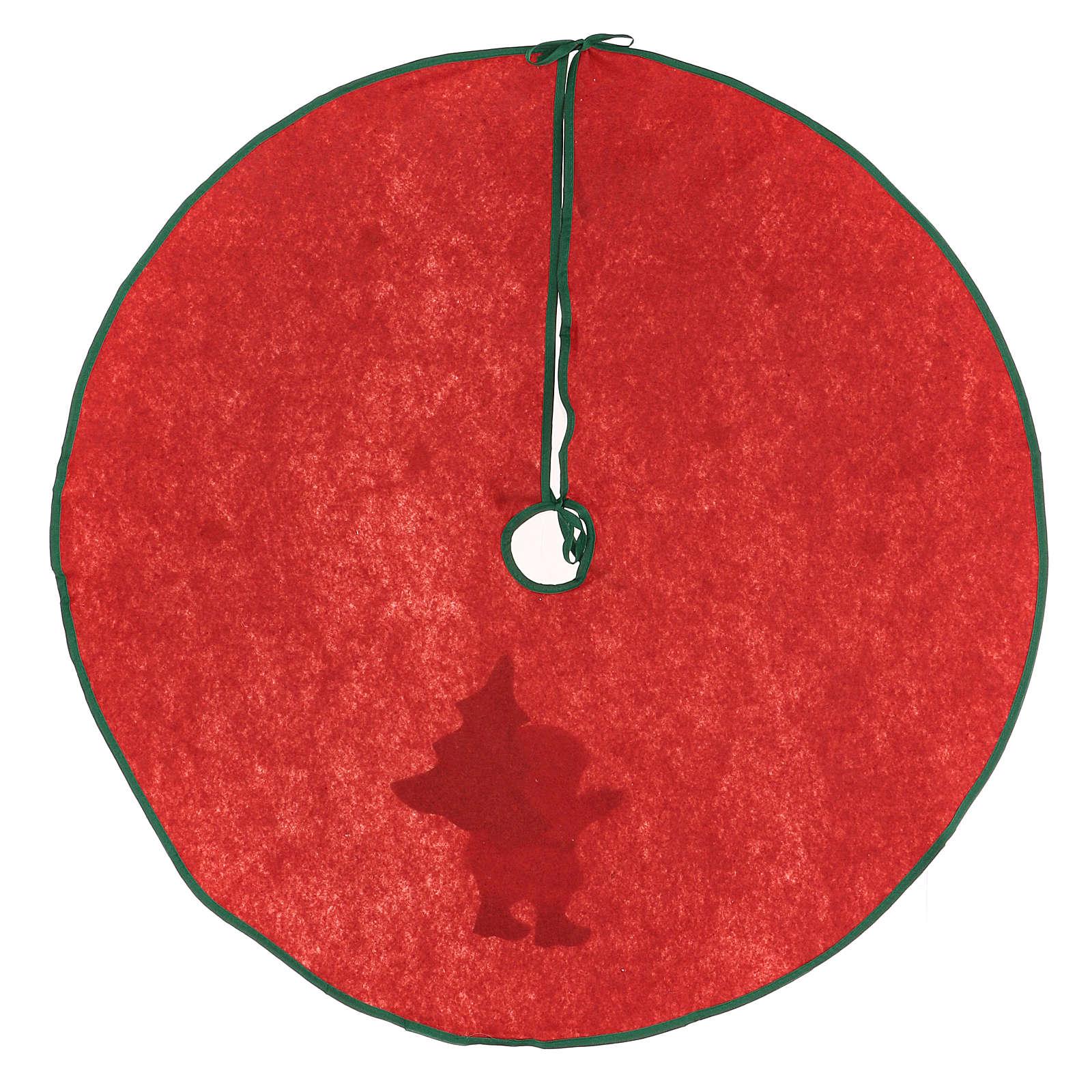 Falda cubre base para Árbol Papá Noel estrellas 77 cm 3