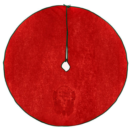 Christmas Tree base cover, red with happy new year writing 120 cm 4