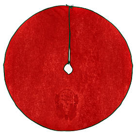Cache-pied sapin de Noël rouge Happy New Year 120 cm s4