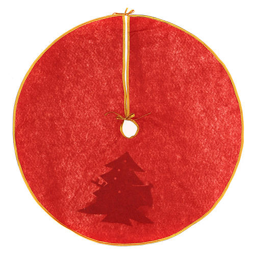 Copribase albero di Natale Pupazzo di neve e renna 84 cm 4