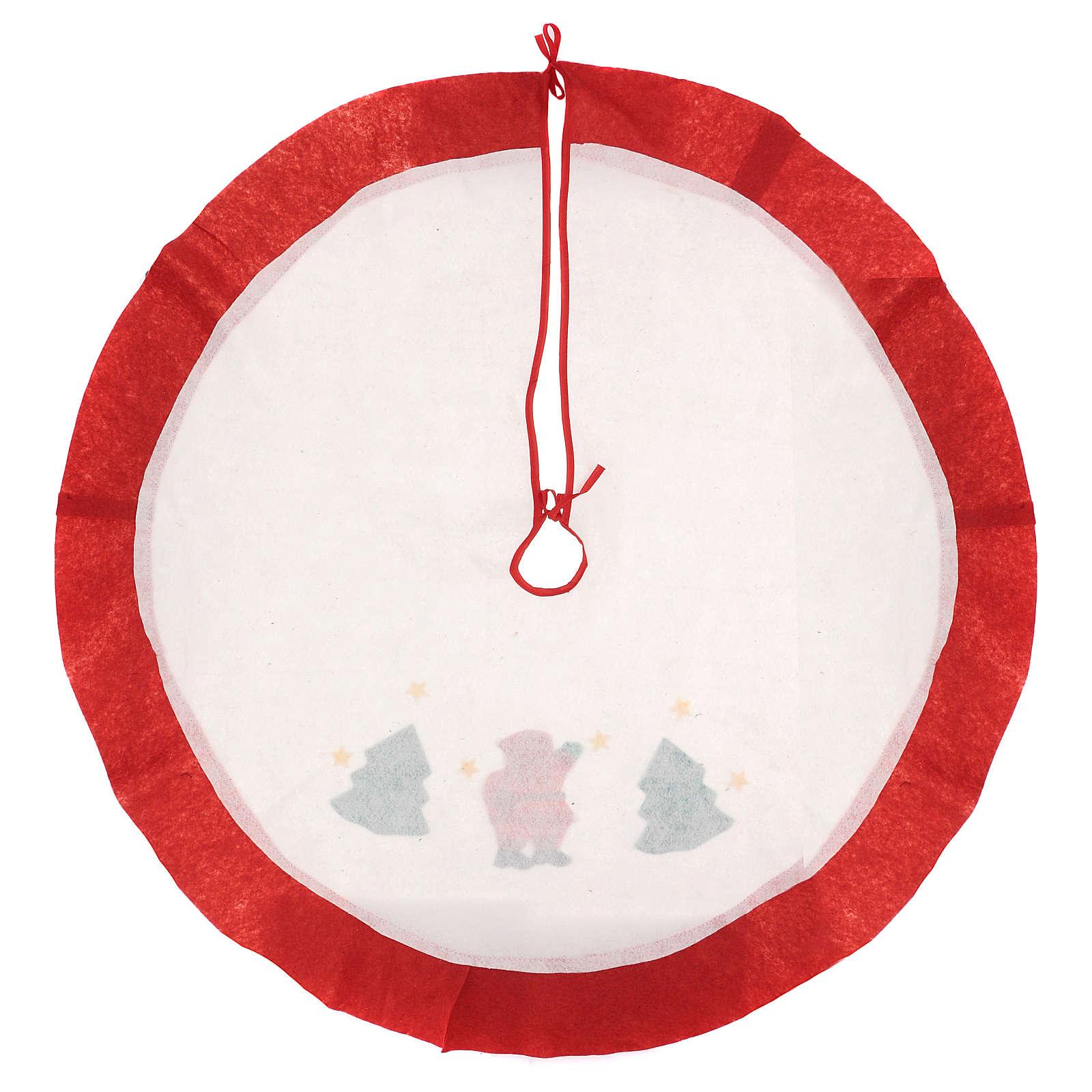 Weihnachtsbaum-Fußabdeckung rot und weiss mit Weihnachtsmann 105cm 3