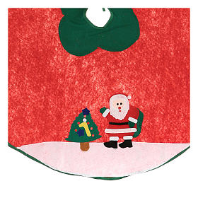 Christmas Tree base cover, Santa Claus and tree 100 cm s2