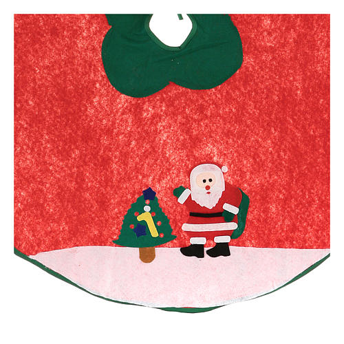 Christmas Tree base cover, Santa Claus and tree 100 cm 2