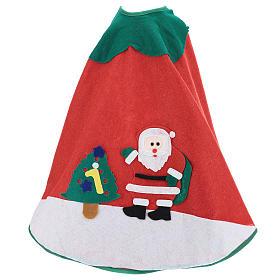 Falda cubre base Árbol de Navidad Papá Noel y arbolito 100 cm s3
