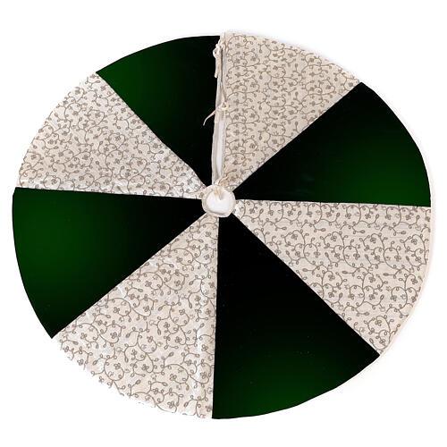 Copribase Albero Natale bianco verde d. 1,20 cm poli. rayon cotone 1