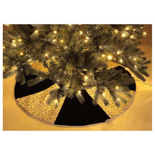 Copribase Albero Natale bianco verde d. 1,20 cm poli. rayon cotone 2