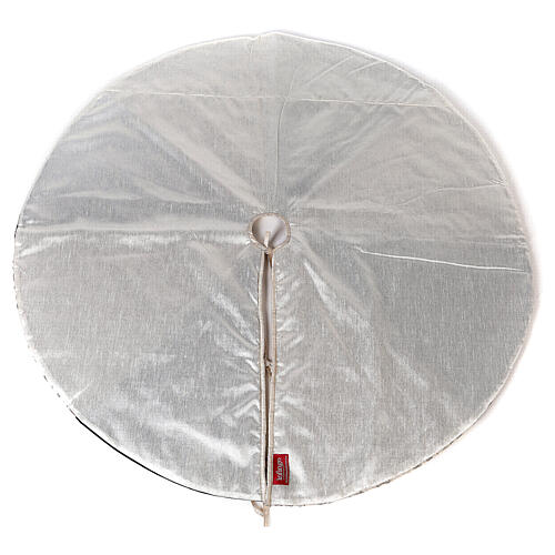 Copribase Albero Natale bianco verde d. 1,20 cm poli. rayon cotone 7