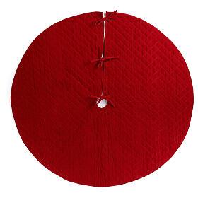 Copribase Albero Natale velluto rosso d. 1,40 cm poli. rayon cotone s1