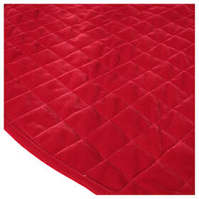 Copribase Albero Natale velluto rosso d. 1,40 cm poli. rayon cotone s3