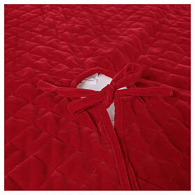 Copribase Albero Natale velluto rosso d. 1,40 cm poli. rayon cotone s4