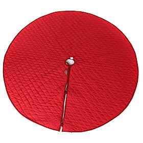 Copribase Albero Natale velluto rosso d. 1,40 cm poli. rayon cotone s5
