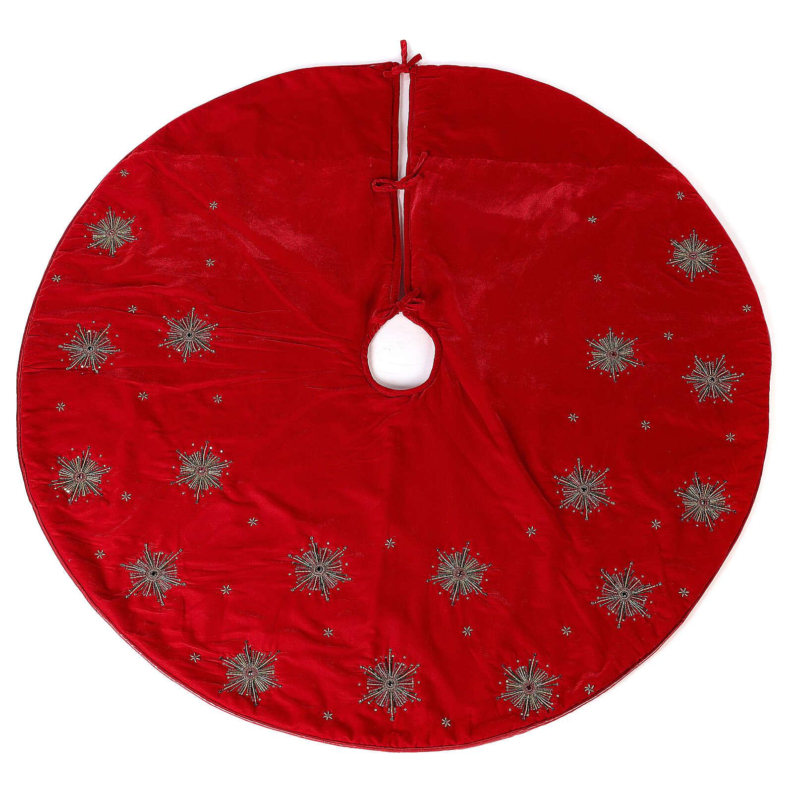 Copribase Albero Natale fuochi d'artificio d. 1,30 cm rayon cotone 3