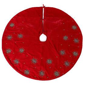Copribase Albero Natale fuochi d'artificio d. 1,30 cm rayon cotone s1