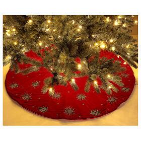 Copribase Albero Natale fuochi d'artificio d. 1,30 cm rayon cotone s2