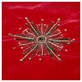 Copribase Albero Natale fuochi d'artificio d. 1,30 cm rayon cotone s3