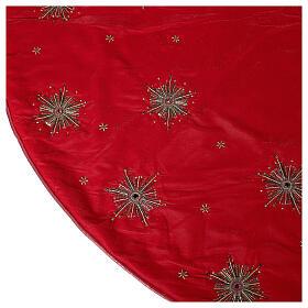 Copribase Albero Natale fuochi d'artificio d. 1,30 cm rayon cotone s6