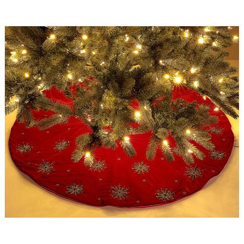 Copribase Albero Natale fuochi d'artificio d. 1,30 cm rayon cotone 2