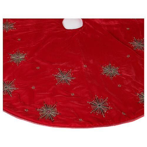 Copribase Albero Natale fuochi d'artificio d. 1,30 cm rayon cotone 4