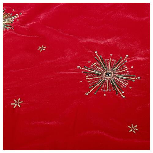 Copribase Albero Natale fuochi d'artificio d. 1,30 cm rayon cotone 5