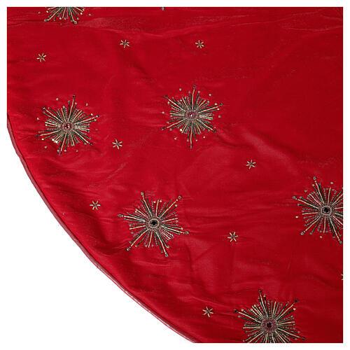 Copribase Albero Natale fuochi d'artificio d. 1,30 cm rayon cotone 6