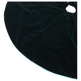 Green velvet Christmas tree skirt 140 cm poly and cotton s3