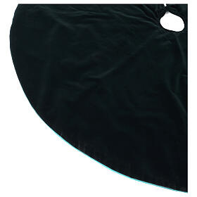 Falda cubre base para Árbol de Navidad terciopelo verde d. 1,40 cm poli. algodón s3