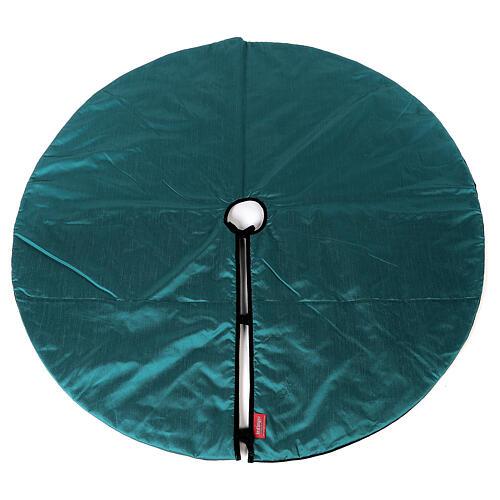 Copribase per Albero di Natale velluto verde d. 1,40 cm poli. cotone 5