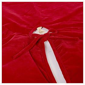 Copribase Albero Natale rosso vischio d. 1,40 cm poli. rayon cotone s6