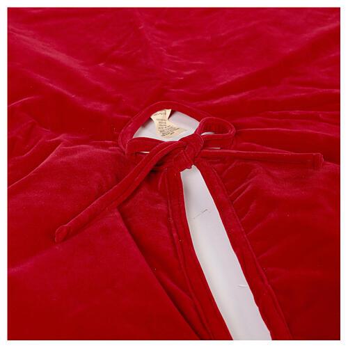 Copribase Albero Natale rosso vischio d. 1,40 cm poli. rayon cotone 6