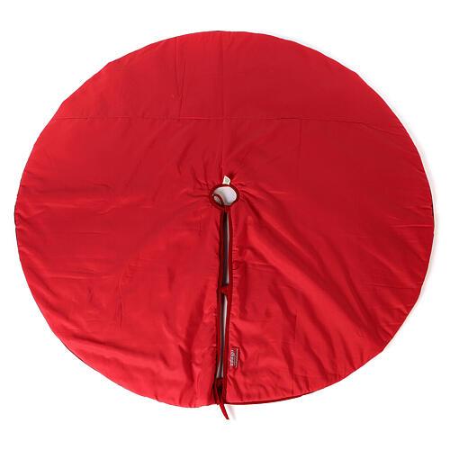 Copribase Albero Natale rosso vischio d. 1,40 cm poli. rayon cotone 7