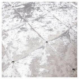 Copribase Albero Natale bianco strass d. 1,45 cm poli. rayon cotone s4