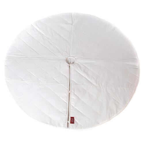 Copribase Albero Natale bianco strass d. 1,45 cm poli. rayon cotone 6