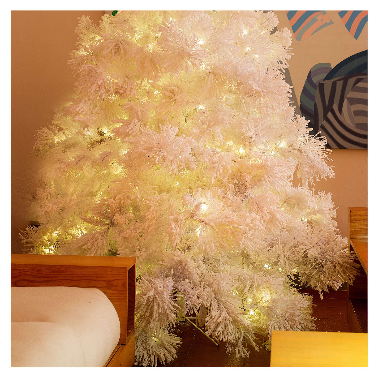 Christmas tree 340 cm snowy White Cloud 1050 LED lights 3