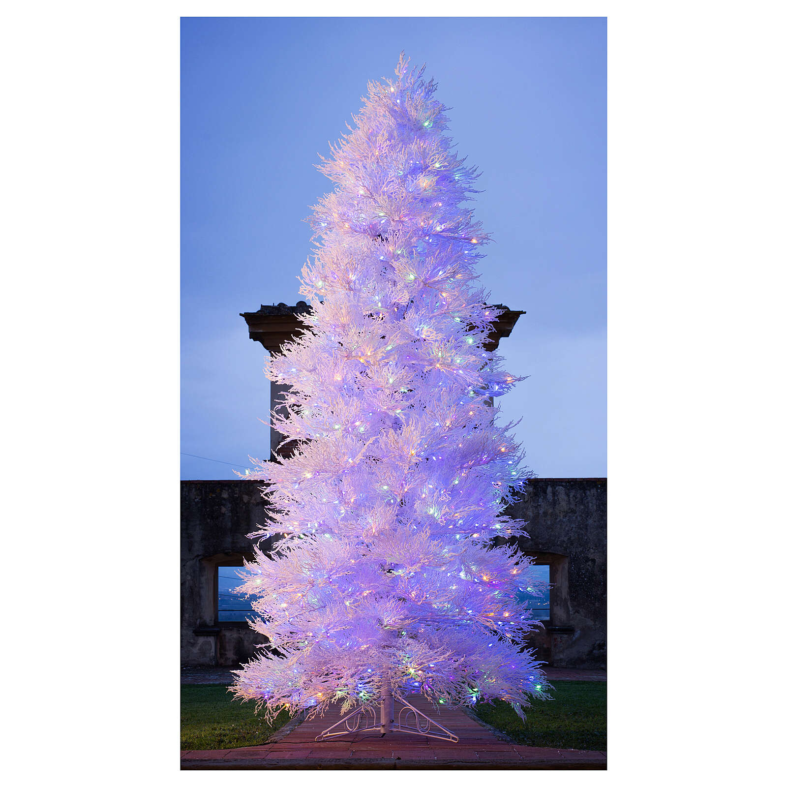 STOCK Albero Natale 270 cm led Winter Glamour 900 led rossi esterno 3