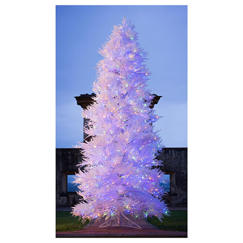 STOCK Albero Natale 270 cm led Winter Glamour 900 led rossi esterno 2