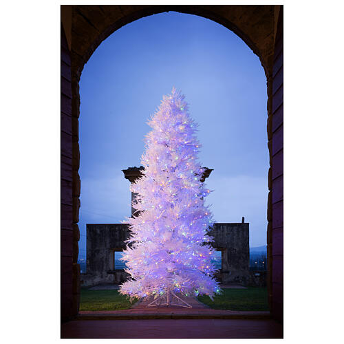 STOCK Winter Glamour Christmas tree 340 cm 1200 red LEDs outdoor 2