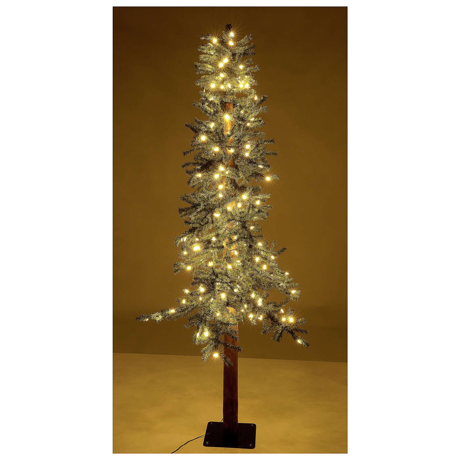 STOCK Albero Natale 120 cm abete stretto Slim Forest 100 led esterno 3